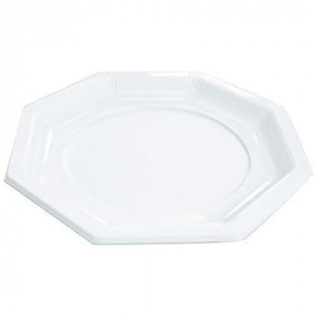Assiette octogonale blanche ø 24 cm x50
