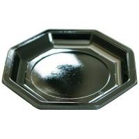 Assiette octogonale noire ø 24 cm x50