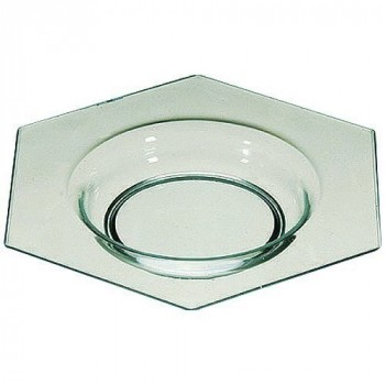 Mini assiette majorque transparente verte x50