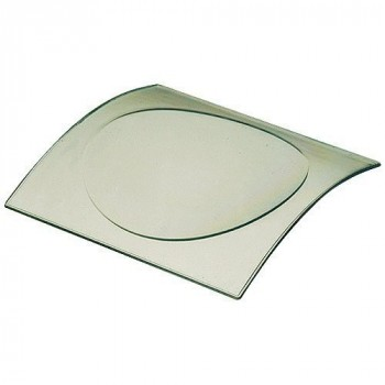 Mini assiette ibiza transparente verte x50