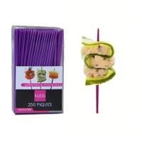 Pics apéritifs 7 cm en plastique violet X250