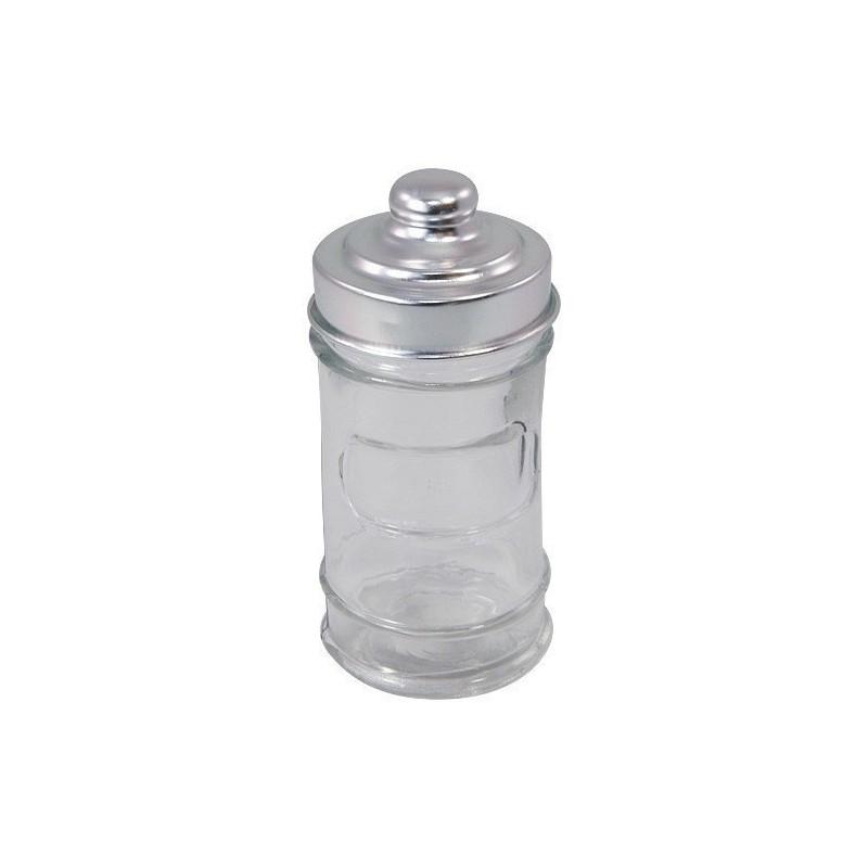 mini pot bonbonniere en verre couvercle metal x6