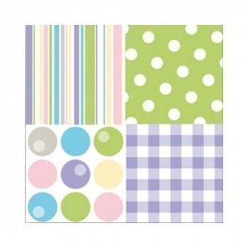SERVIETTES OUATE 33X33 VARIETY PASTELX20