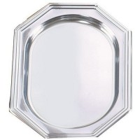 Plat octogonal 35X25 cm argent x5