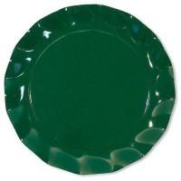 Assiette plate carton vert fonce ø 27 cm x10