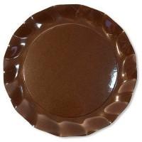 Assiette plate carton chocolat ø 27 cm x10