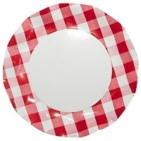 Assiette plate ø 27 cm decor vichy x10