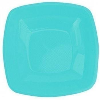 Assiette carree ø 23 cm  turquoise x12