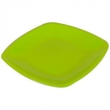 Assiette carree ø 18 cm vert anis x12