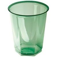 Gobelet octogonal plastique vert x25