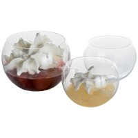 Verrine sphere 6cl plastique transparent x10