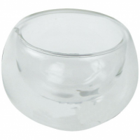 VERRINE SPHERE EN VERRE DOUBLE FOND 10 CL X8