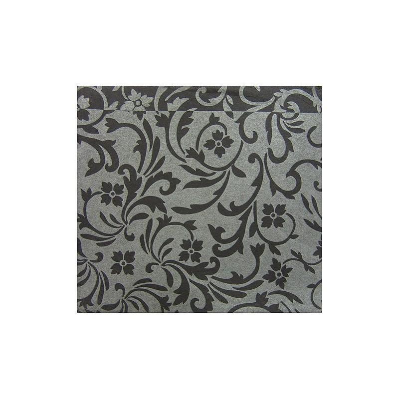 Serviette voie seche 40x40 cm taj mahal noir x50 mes verrines - Seche serviette 50 cm ...